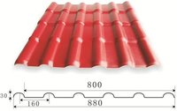 Dark Red Synthetic Resin Roof Tiles