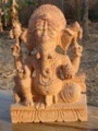 Natural Stone Ganpati Statue