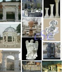 Marble Fireplace And Sculptures