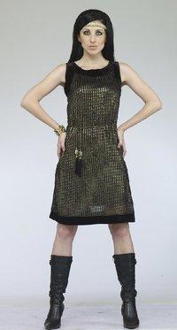 Ladies Black Color Short Dress