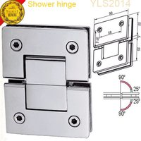 180 Degree 304 Stainless Steel Die-Casting Shower Hinge For 8-12mm Tempered Glass