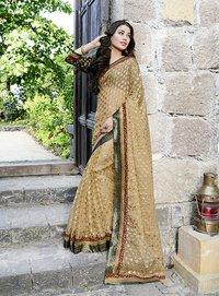 Designer casual beige Saree