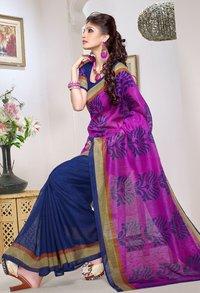 amazing violet Saree