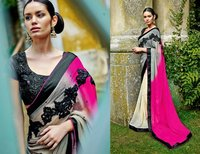 designer multicolor saree