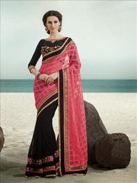 exclusive pink saree