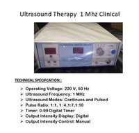 Ultrasonic Unit Digital In Deluxe Model