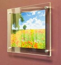 Acrylic Wall Mount Poster Frames With Metal Studs