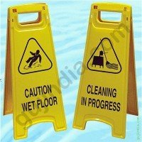 Safety Floor Sign Yellow Board