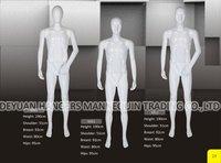Plastic Full Body Standing Male Mannequin