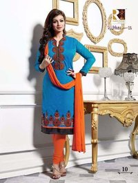 Ladies Designer unstiched Suit