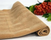 Printing Brown Pp Beads Cotton Flocking Fabric (F4-P654)