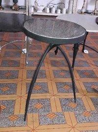 Iron Stool With Granite Top