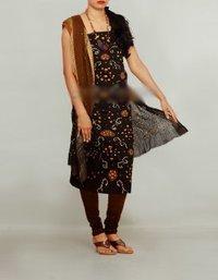Unnati Silks Pure Bandhani Satin Cotton Unstiched Salwar Suit