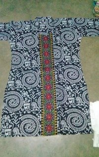 Kantha Stitch Cotton Ladies Kurtis