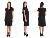 Ladies Knee Length Black Cocktail Evening Dress