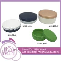Plastic Cosmetic Cream Packaging Jar With Screw Cap