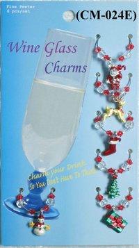 Christmas Wine Charm