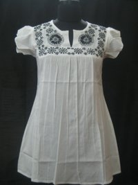 Cotton Top With Hand Embroidery