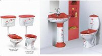 ROYAL BATHROOM SET-BLOOD RED