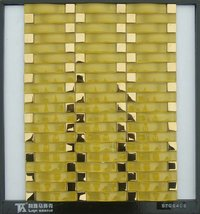 Arch Shape Crystal Glass Mosaic Tile (STQ6406)