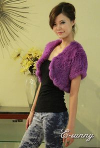 Hand-Knitted Rabbit Fur Vest