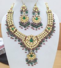 Kundan Meena Diamond Polki Set