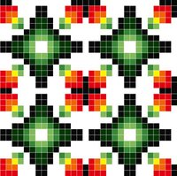 Glass Mosaic Repeated Pattern Tiles