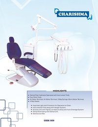 Hydraulic Operated Dental Chair With Instrument Trolley Charisma
