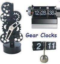 Futuristic Gears Clock