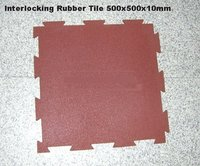 Rubber Interlocked Flooring