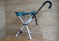 Folding Chair (With A Cane)