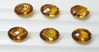 Citrine Faceted Oval Stones