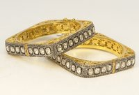 Rosecut Square Diamond Bangles