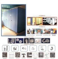 REST ROOM PARTITIONS WITH HPL HIGH PRESSURE LAMINATE BOARDS
