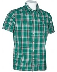 Mens Yarn Dyed Green Checks Shirts