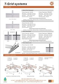 T-Section For Grid Ceilings