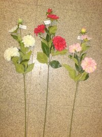 Artificial Silk Zinnia Flower