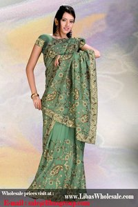 Pista Green Georgette Saree
