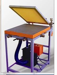 Manfully Operated Vacuum Based Screen Printing And Gumming Table Unit