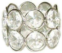 Crystal Napkin Rings With 16 Crystal
