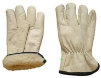 Warm Winter Grain Leather Gloves
