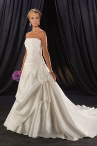 Customize Strapless Beaded Formal Gowns Bridal Wedding Dress