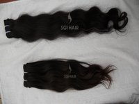 Machine Weft Indian Remy Virgin Hair Extensions