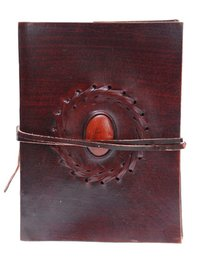 Handmade Paper Diary With Leather Cover