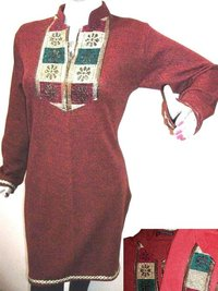 Lace Work Woolen Kurti