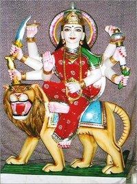 White Marble Durga Mata
