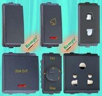 10/20 Amp. 1&2 Module Switch, Fan Regulator, 6/10/13/16 Amp. Socket Outlet