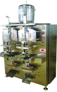 Double Head Fully Automatic Mechanically Operated Vertical Pouch Form, Fill And Seal Machine
