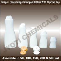 Fancy Shape Shampoo Bottles With Flip Top Cap