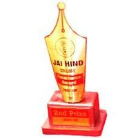 Nib Shaped Gold Trophy